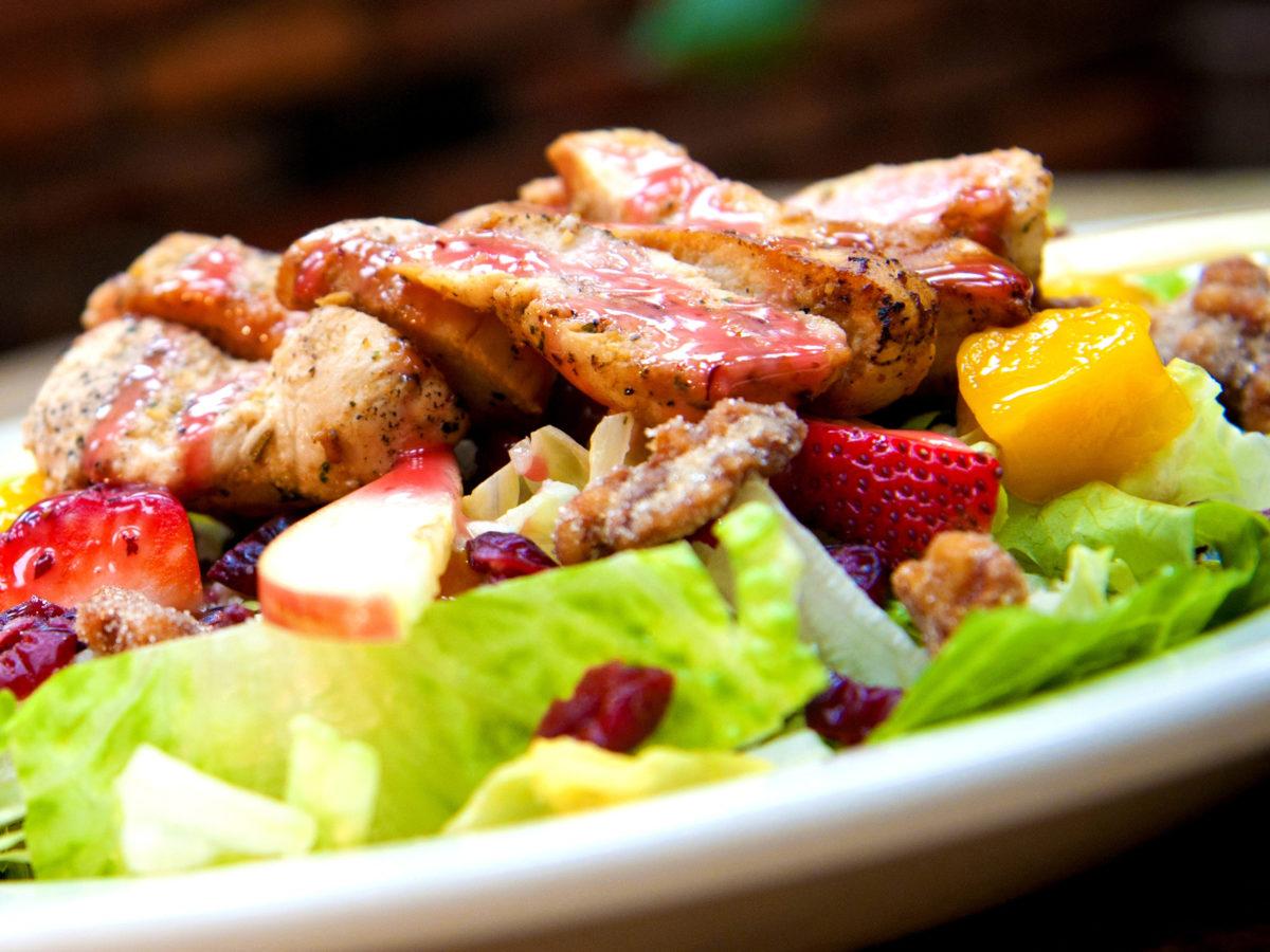 Strawberry Mango Chicken Salad