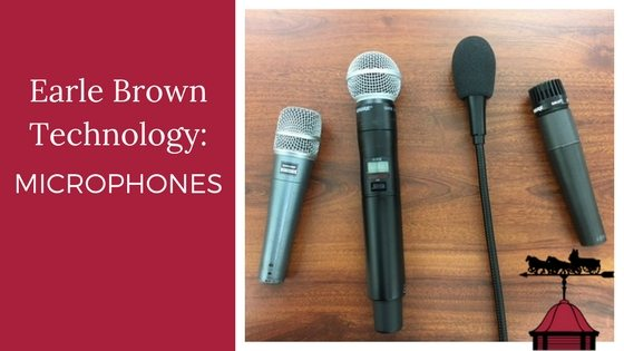Earle Brown Technology: Microphones